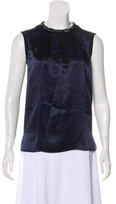 Magaschoni Embellished Silk Top