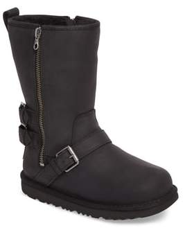 UGG Kaila Genuine Shearling Buckle Strap Bootie