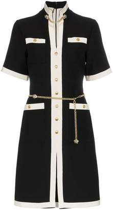 Gucci button-down chain detail wool dress