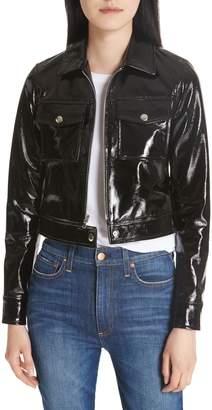 L'Agence Lex Patent Leather Crop Jacket
