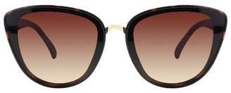 A New Day Women's Plastic Cateye Sunglasses Brown