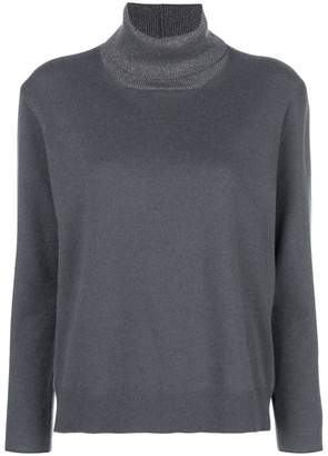 Fabiana Filippi metallic turtleneck sweater