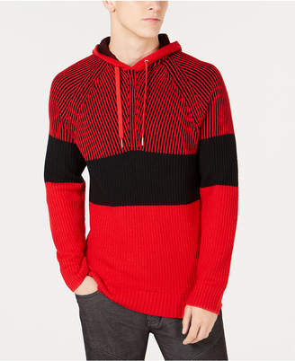 INC International Concepts I.N.C. Men's Colorblocked Hooded Sweater, Created for Macy's