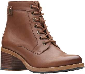 Clarks Artisan Leather Ankle Boots - ClarkdaleTone