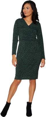 Belle By Kim Gravel Belle by Kim Gravel Knit Crossover Dress
