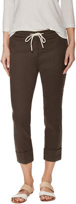 James Perse Linene Cuffed Pull On Pant