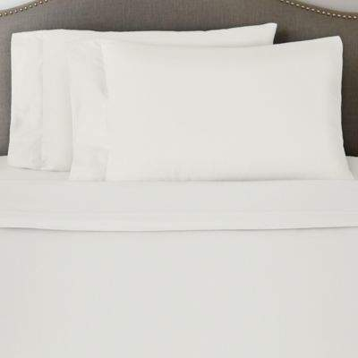 Bed Bath & Beyond Pointehaven 170 GSM Solid Flannel Twin Sheet Set in Ivory