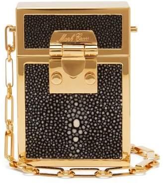 Mark Cross Nicole Stingray And Gold Plated Brass Bag - Womens - Black Multi