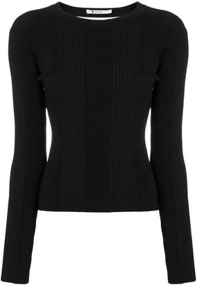 Alexander Wang open back long sleeve knit top
