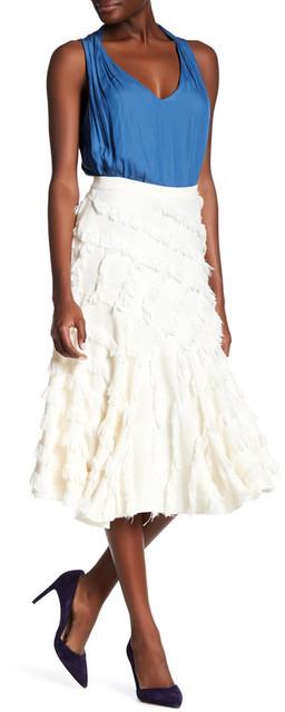 Rebecca TaylorRebecca Taylor Bias Fringe Skirt