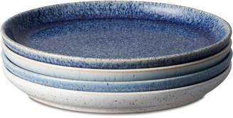 Denby Studio Blue 4-Pc. Medium Coupe Plate Set