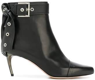 Alexander McQueen eyelet bow boots