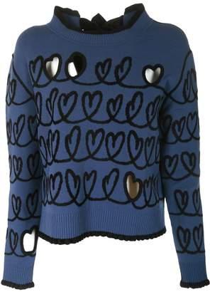 Fendi Cutout Heart Sweater