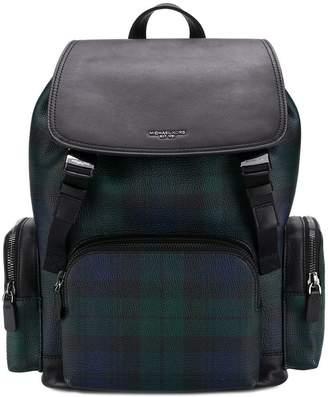 Michael Kors tartan print backpack