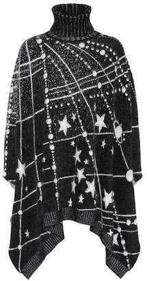 Saint Laurent Constellation jacquard poncho