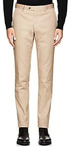 Barneys New York MEN'S COTTON GABARDINE TROUSERS-BEIGE, TAN SIZE 40