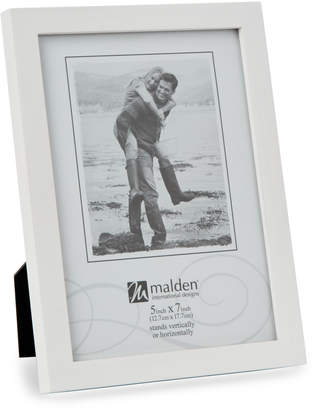 "Malden 5"" x 7"" White Concepts Picture Frame"