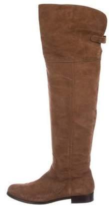 Aquatalia Suede Round-Toe Boots