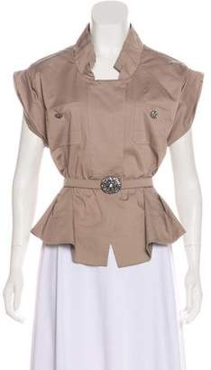 Valentino Short Sleeve Belted Top w/ Tags