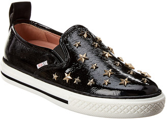 RED Valentino Star Studded Leather Sneaker
