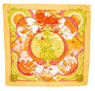 Hermes Au-delà des Cinq Mers Silk Scarf