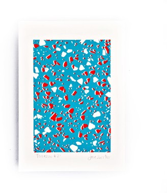 The Completist Blue Terrazzo Limited Edition Screen Print