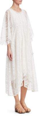 Chloé Circular Tablecloth Lace Midi Dress