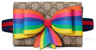 Gucci Children's GG rainbow bow belt bag