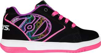 Heelys Girl's Propel 2.0 Running Shoes, Charcoal/Pink Terry Logo