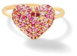 Shebee Gem Puffy Heart Ring