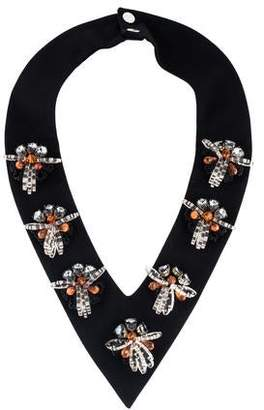 Marni Crystal, Resin & Fabric Collar Necklace