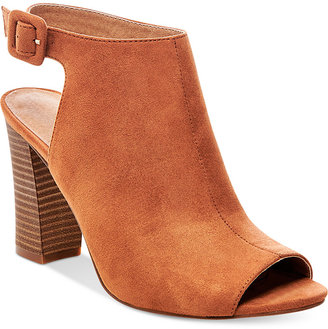 Madden Girl Beckkie Slingback Peep-Toe Booties $59 thestylecure.com