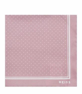 Reiss Jupiter - Silk Pocket Square in Dusty Pink