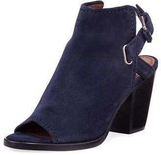 Frye Dani Shield Slingback Booties, Navy