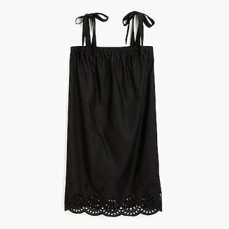 J.Crew Tie-shoulder dress with embroidery