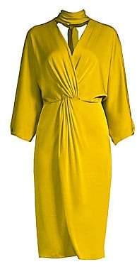 Diane von Furstenberg Women's Draped Choker Dress