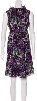 Anna Sui Sleeveless Knee-Length Dress