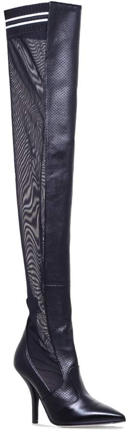 Fendi Mesh Panel Over-The-Knee Boots