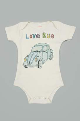 Orange Heat Organic Love Bug Onesie