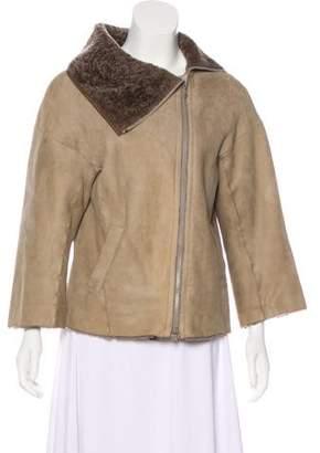Brunello Cucinelli Shearling Zip-Up Jacket
