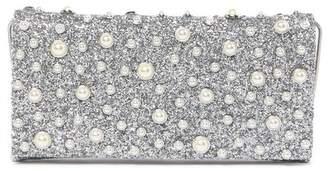 Sondra Roberts Faux Pearl & Glitter Clutch
