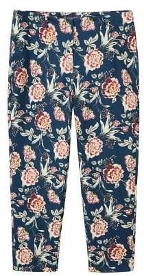 Violeta BY MANGO Flowers cotton trousers