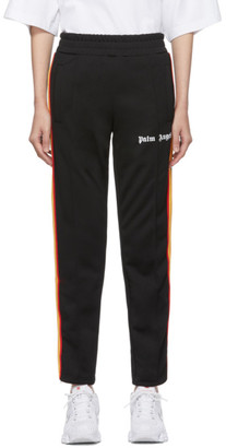 Palm Angels Black Rainbow Slim Track Pants