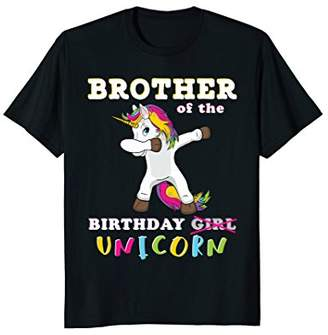 Brother of the Birthday Girl T-Shirt Magic Unicorn
