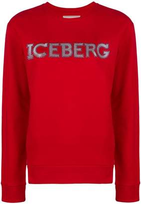 Iceberg microstud logo sweatshirt