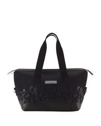 adidas by Stella McCartney Floral Zip-Top Nylon Gym Bag