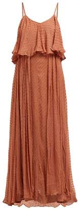 Mes Demoiselles Donatella Fil Coupe Tiered Maxi Dress - Womens - Brown