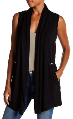 Cable & Gauge Knit Drawcord Waist Cardigan