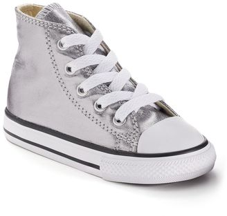 Toddler Converse Chuck Taylor All Star Metallic High-Top Sneakers $35 thestylecure.com