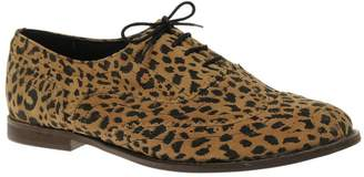 Asos DESIGN MARKY Suede Lace Up Flat Shoe